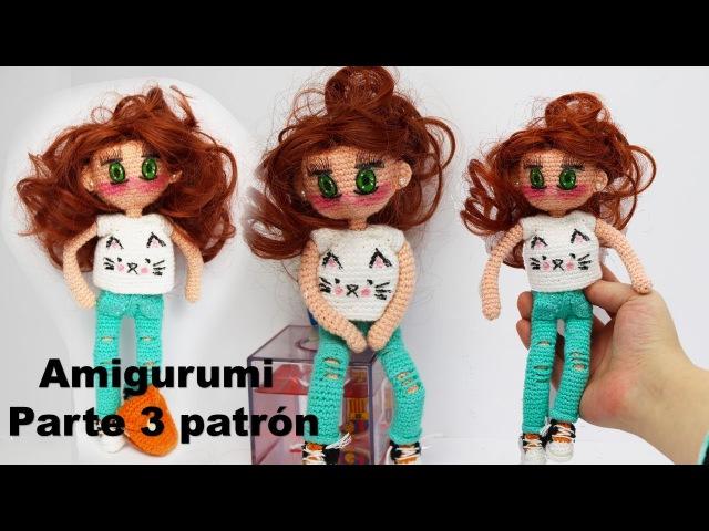 Amigurumi, muñeca moderna adolescente (parte 3/4)