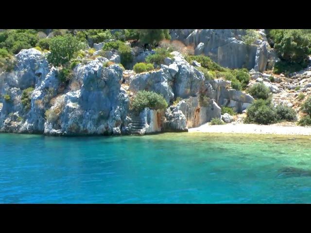 Остров Кекова( Турция). Экскурсия к затонувшему древнему городу.
