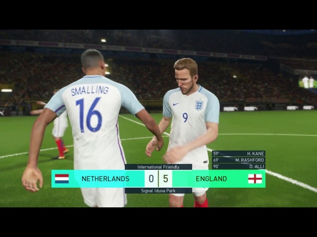 PES 2018 / Netherlands vs England 2018 / International Friendly / Gameplay HD