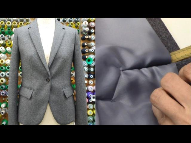ジャケットの作り方・縫い方 Part4 「衿作り 袖作り 袖額縁作り」 How to se