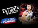 Stephen Curry Full Highlights 2018 01 15 at Cavs 23 Pts 8 Assists 1 DUNK
