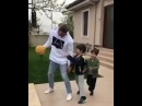Kivanc Tatlitug Playing his favorite sport around kids