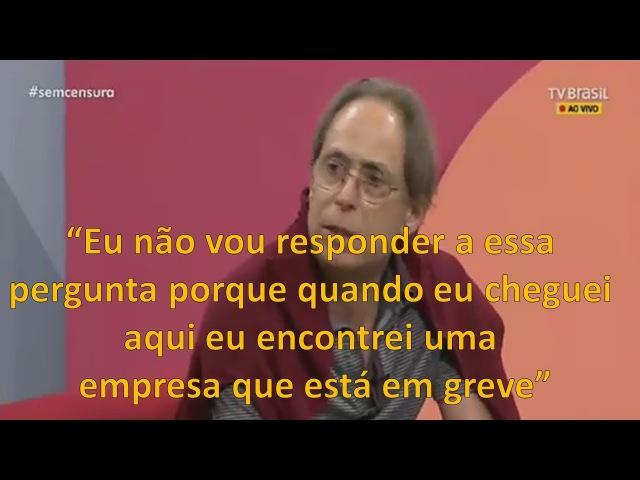 COMPLETO | Ator Pedro Cardoso abandona programa ao vivo em apoio a grevistas