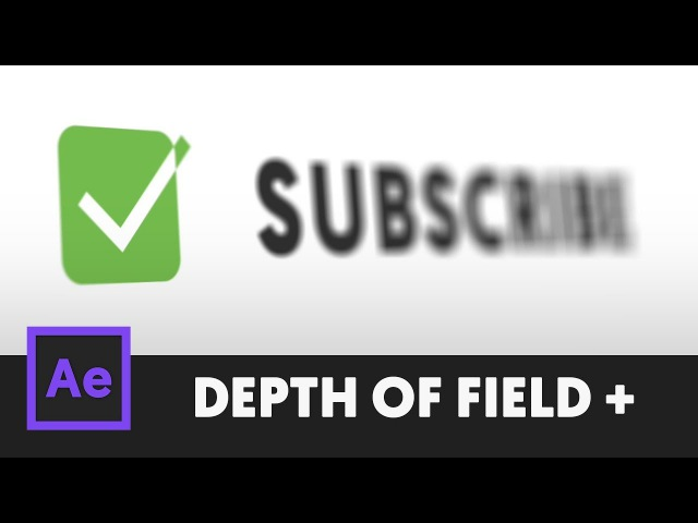 Simple Bokeh Depth of Field - After Effects Tutorial (No Third Party Plugin) T076