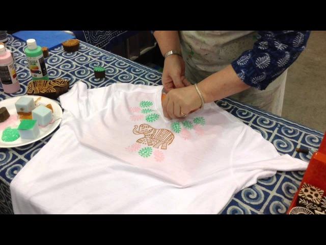 Block Print your own T-shirt | DIY T Shirt