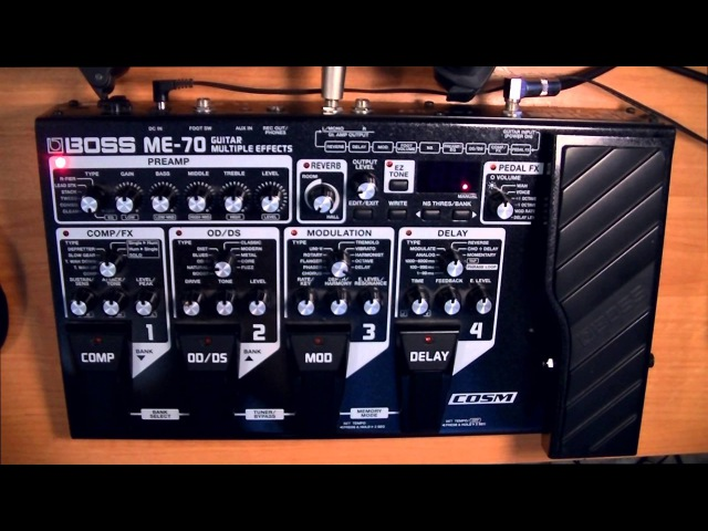 Обзортест гитарного процессора BOSS