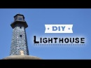 DIY Lighthouse How To Make Lighthouse Of Cardboard And Solar Garden Light