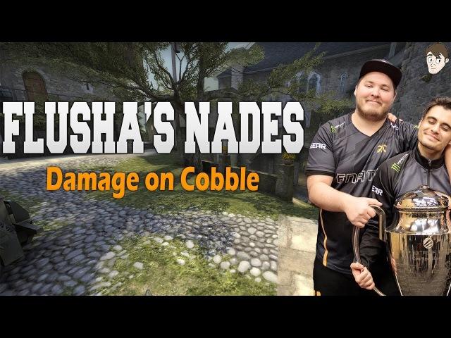 Flusha's Nades: Consistent Controlled Damage on Cobblestone
