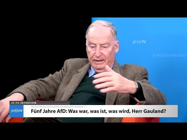 Alexander Gauland: Fünf Jahre AfD (JF-TV Interview)