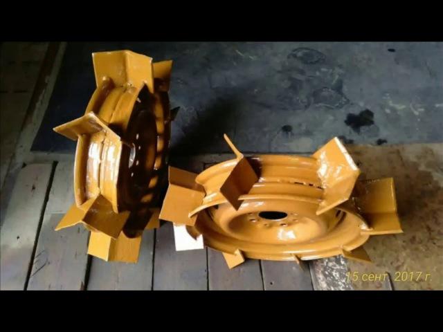 Самодельные грунтозацепы и полуоси из металлолома.Homemade grapples..или Вечные колеса.