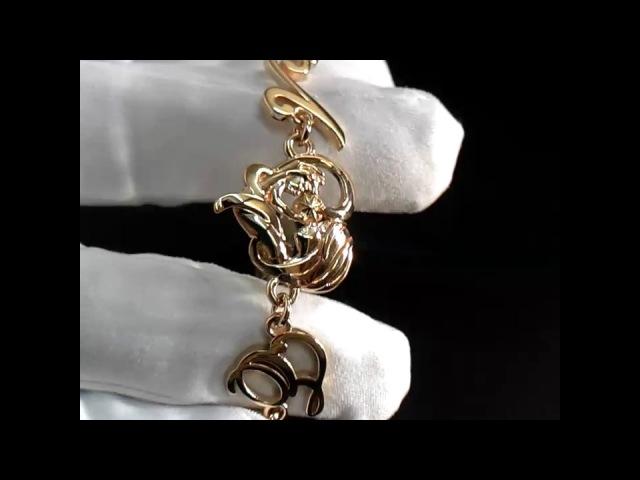 Золотой браслет мать и дитя 👶 на руку с инициалами Возможно изготовление в золоте или серебре