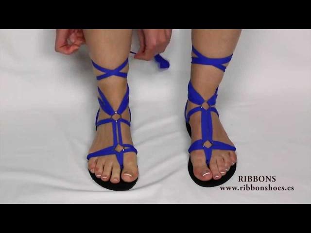 Sandalias multiformas de mujer Ribbon shoes смотреть онлайн без регистрации