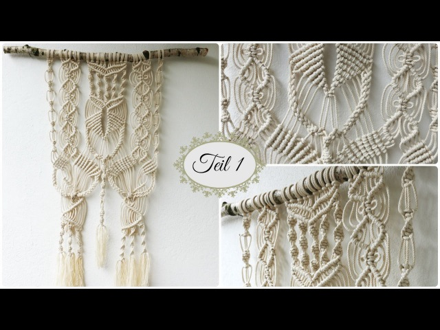 Makramee Wandbehang Teil 1 * DIY * Macrame Wall hanging [eng sub]