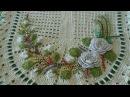 Os mais lindos apliques florais de crochê para tapetes (crédito nas imagens)