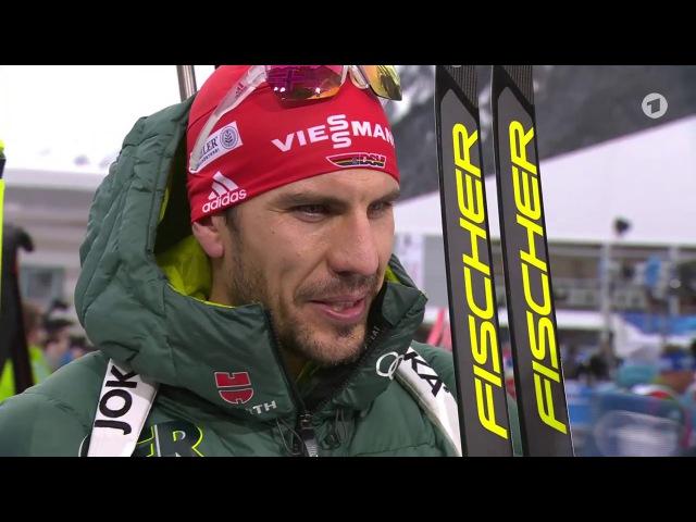 Antholz-2018. Arnd Peiffer 4th in pursuit