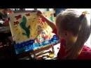 Урок малювання для малюків Черепаха АХА -АХА