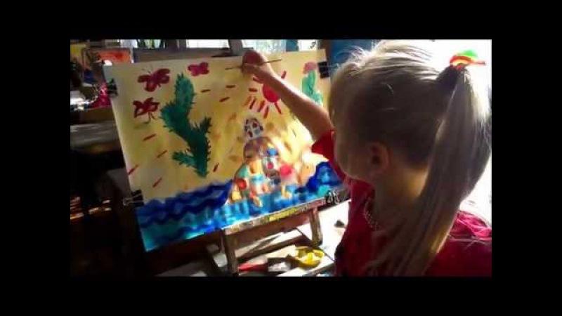 Урок малювання для малюків