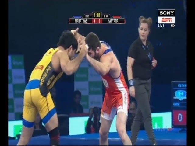 PWL 3 Day 2: Parveen Rana Vs Khetik Tsabolov wrestling at Pro Wrestling league 2018, Season 3