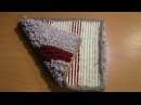 Вязание коврика на резиновой основе Часть 3 из 6