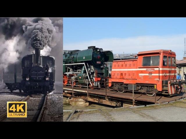 Parní lokomotivou 314 303 na výstavu For Model 2018 posun 464 202 v depu / 3.3.2018 (4K)