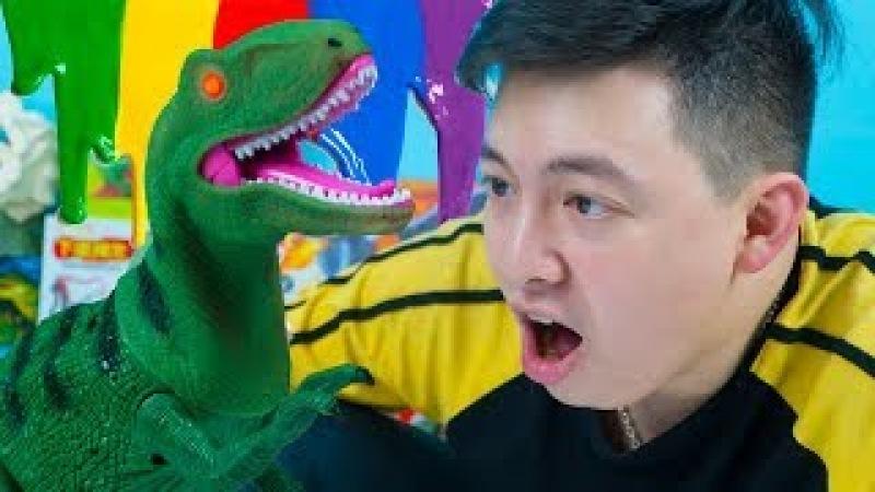 BỘ ĐỒ CHƠI KHUNG LONG BIẾT ĐI Đo choi T-Rex Điểu Khiển Từ Xa - Khánh Khủng Long