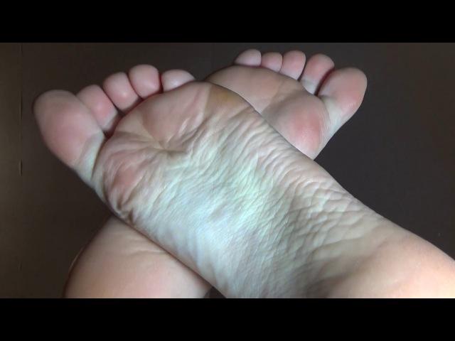 Japanese foot massage ASMR BAREFOOTING footjob and footfetish