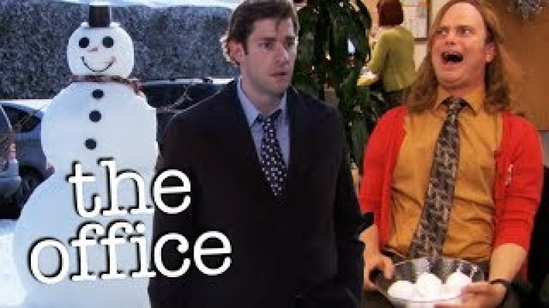 Jim and Dwight's Snowball War - The Office US