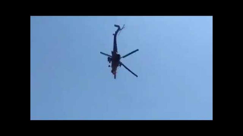 Российский спецназ наводит вертолёты на цель