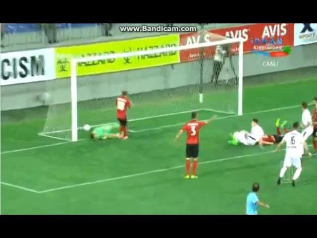 FK Qabala 0 - 1 Jagiellonia Bialystok Taras Romanczuk QOL Europa League 2017