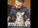Кот любит, когда хозяин играет на пианино