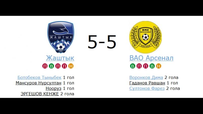 МФЛ ЮАО - 1 дивизион 10 тур Жаштык - ВАО Арсенал