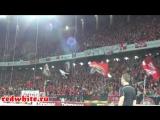 Суппорт cпартаковских фанатов на матче Спартак 1-0 Рубин