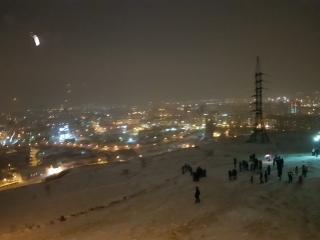 Новый Год 2018 на часовне Красноярск
