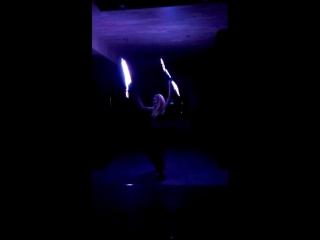 Фрагмент неонового шоу в баре Лазурном....просто супер