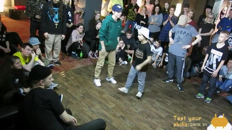 Test Your Skillz: GAME 01 hip-hop 2x2 teacher student 1/8'' Машина Чайка vs Toshik Sergo vs MaxAbzats Sona » Freewka.com - Смотреть онлайн в хорощем качестве
