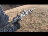 Стрельба из АК с регулируемым газовым поршнем KNS AGP.