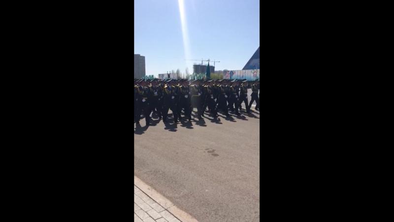 Репетиция парада к 7 мая. Астана, 2017 год