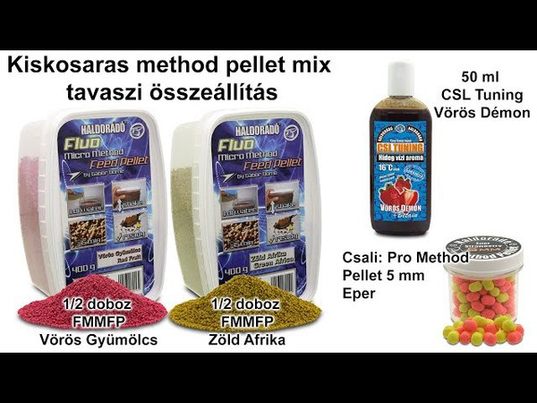 Tavaszi fogós receptek felmelegedő vizekre 10. rész - Kiskosaras method pellet mix
