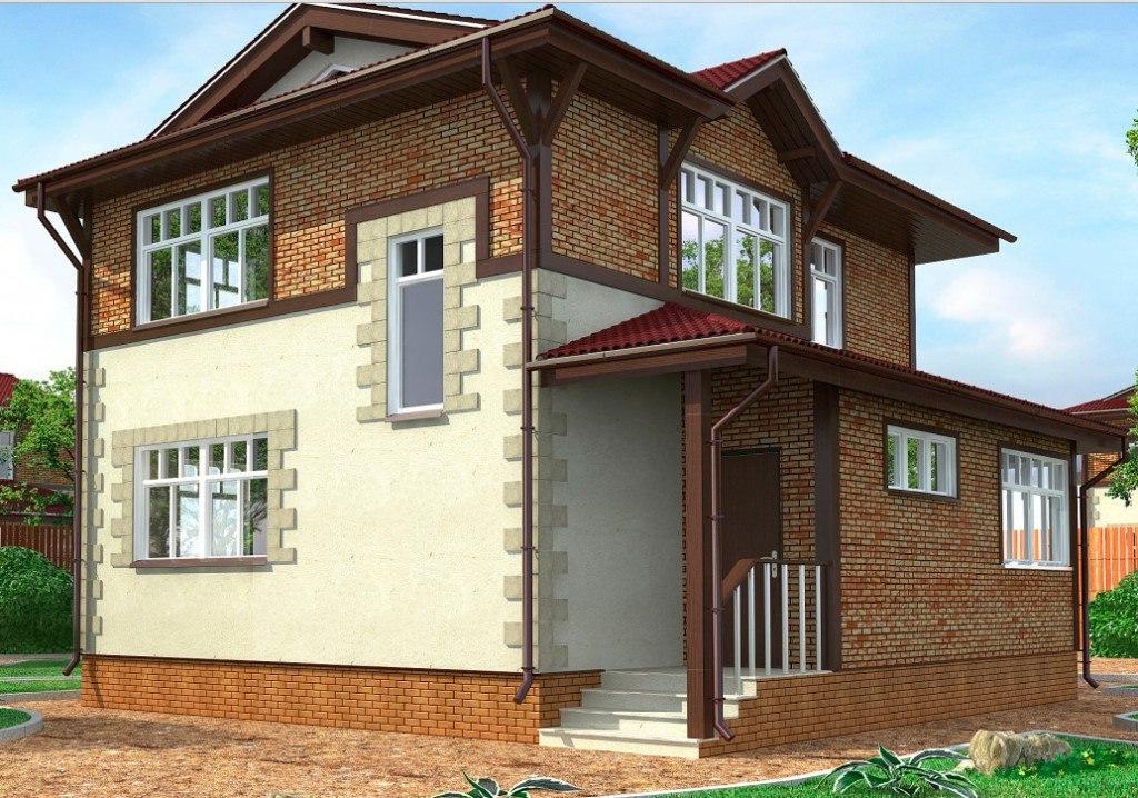 Отделка фасада двухэтажные дома фото