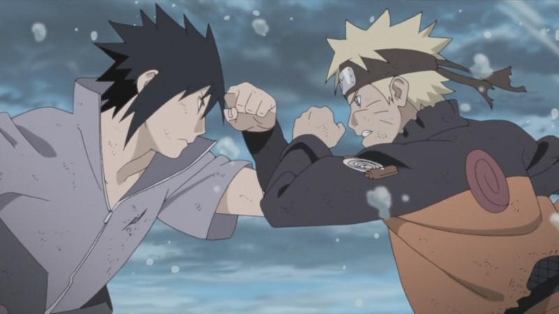 Узумаки Наруто против Учихи Саске Последний бой в Долине Завершения