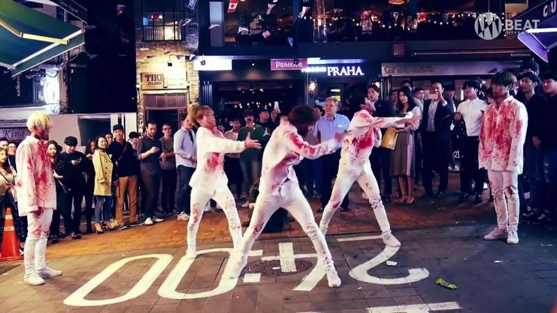 A C E ZOMBIE Dance Busking in Itaewon