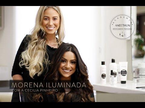 Como fazer Morena Iluminada /Mechas Ombré Hair com Cecilia Pinheiro - Academia Aneethun