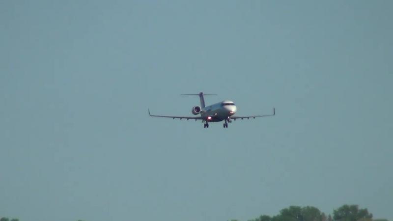 Emergency landing with no flaps aircraft CRJ 200ER