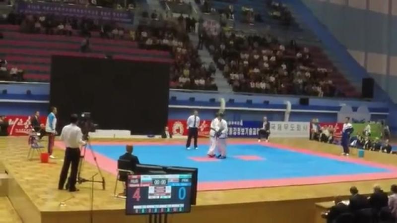 Финал 57кг, Пхеньян, Корея 2017. Otsimik Evgenii Ri Du Song