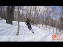 Fat Bike Skis in snowy Vermont woods