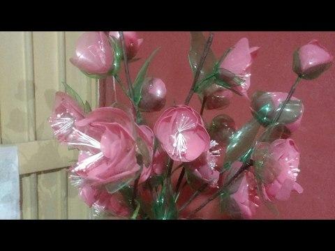 Arreglo floral para mama 10 de mayo de pet reciclado 2da parte