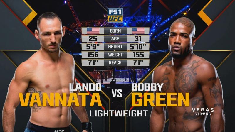 UFC 216 Бобби Грин — Лэндо Ванната