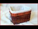 Чехол для корзинки с квадратным прямоугольным дном из ткани своими руками