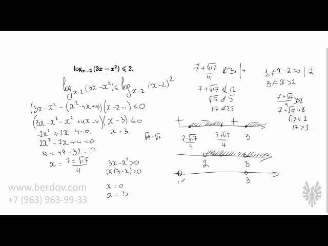 Метод рационализации и решение логарифмических неравенств