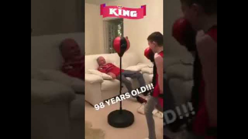 98 year old is a good sport - 980216